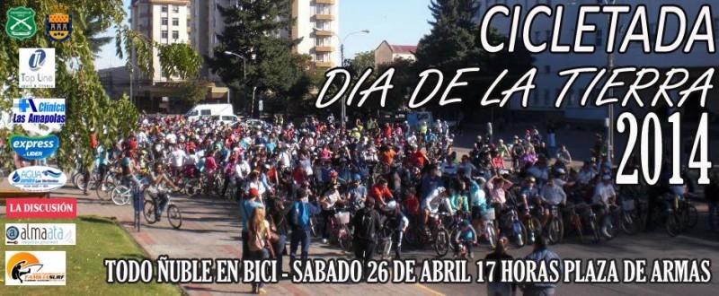Cicletada del dia de la tierra Chillán