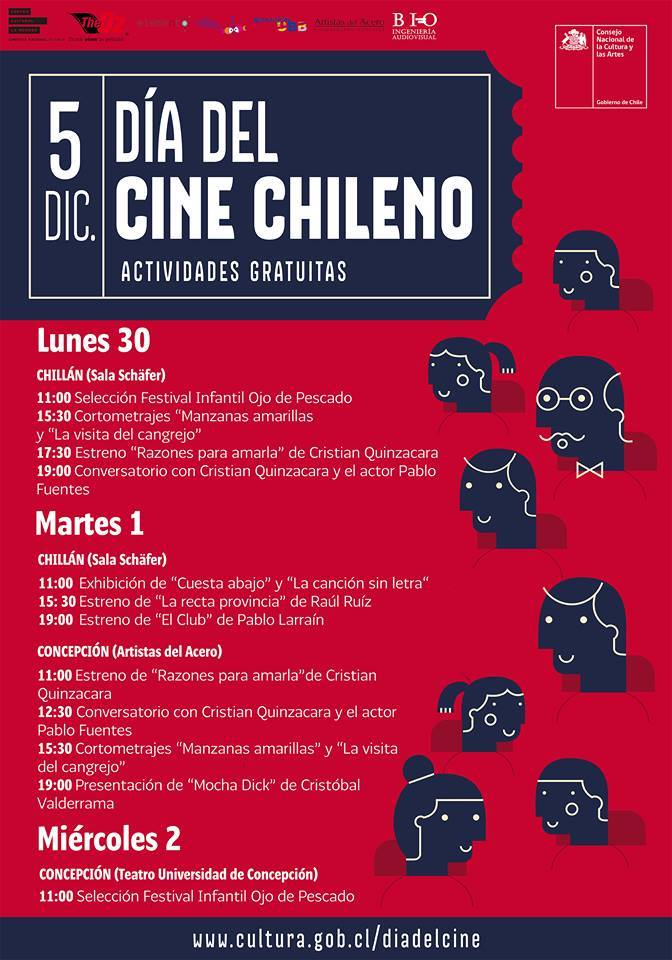 dia del cine chileno en chillán